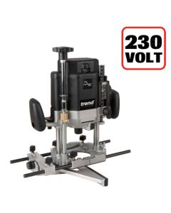 T11EK - Trend T11 230volt 1/2in collet Router - powerful 2000 watt motor and user friendly adjustments for high end performance in hand held work and additional features for table work