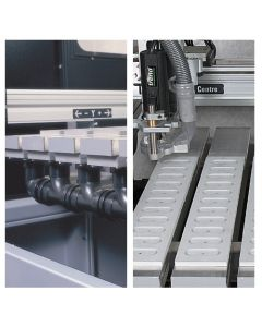 CNC/VAC/TABP - CNC Smart vacuum table with Pipework