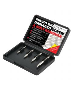 GRAB/ME1/SET - Trend Grabit Screw Extractor Set - 4 piece set for removing damaged screws and bolts from 3mm to 6mm diameter