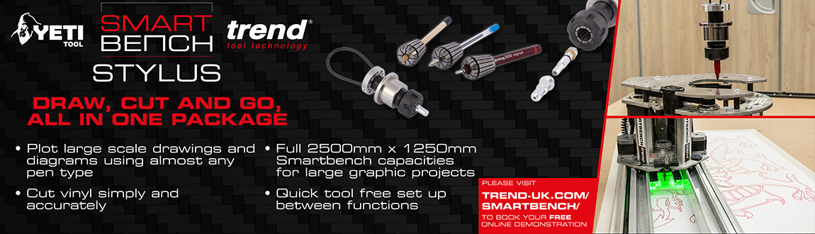 Trend CNC SmartBench Stylus - Draw, Cut & Go - All in one package